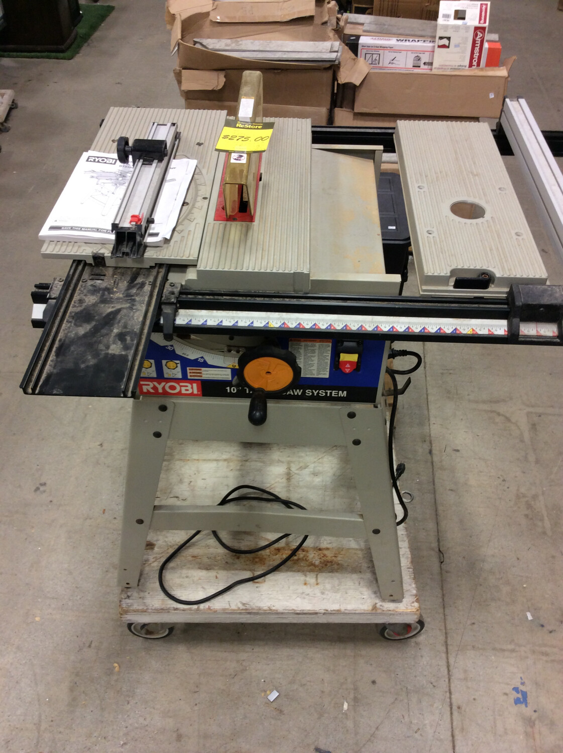 "Ryobi 10"" Table Saw System"