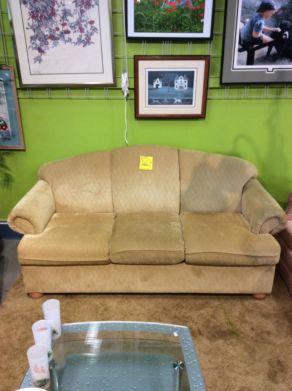 Yellow Sofa w/ Storage