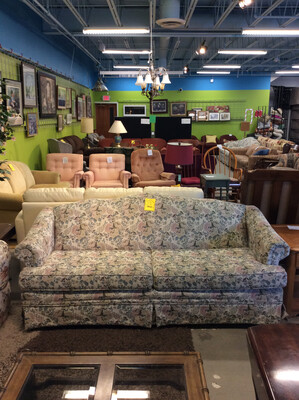 Light Blue Floral Couch
