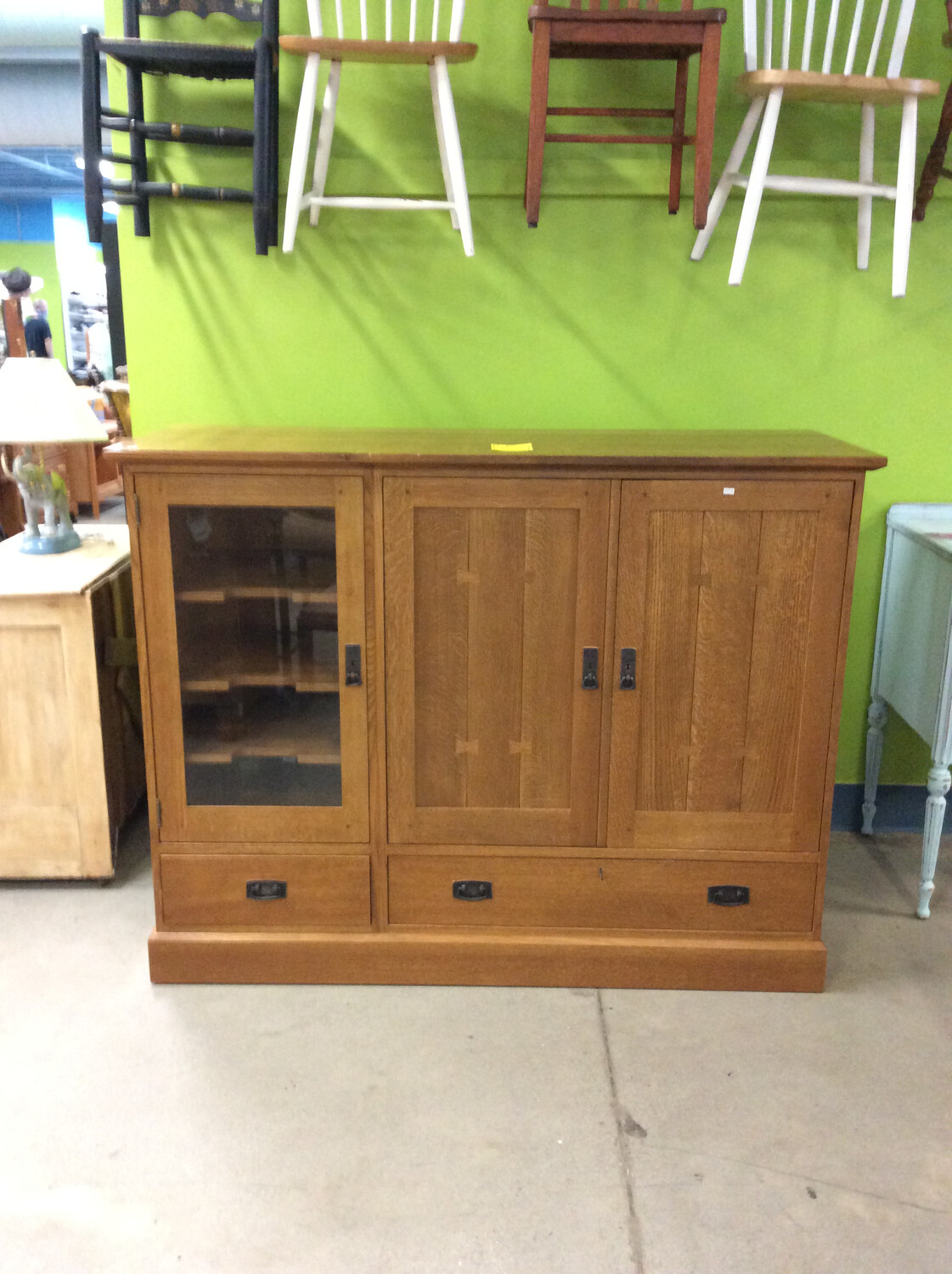 Stickley Oak Entertainment Center