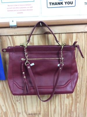 Olivia + Joy Red Leather Purse