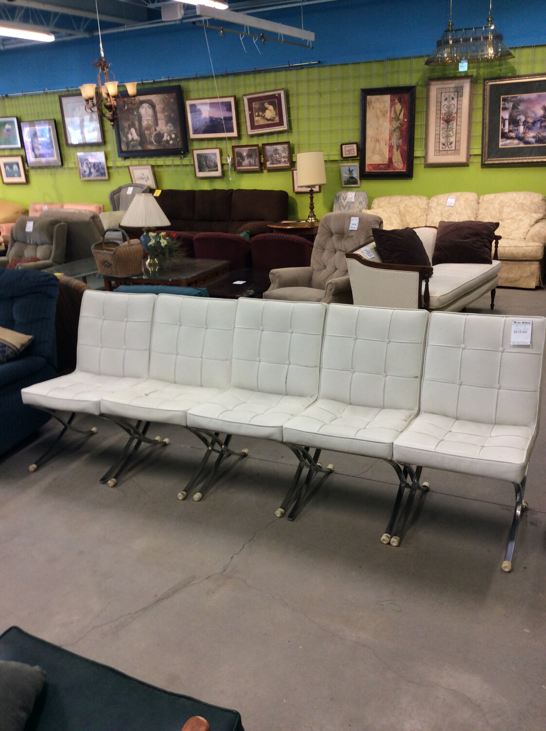 Set of 5 White Chairs