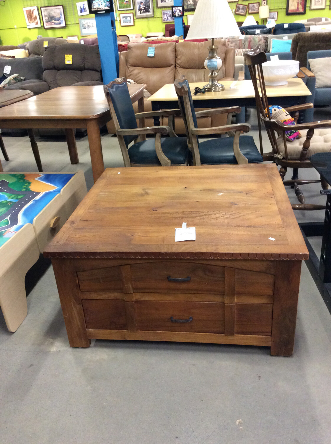 Wooden Coffee Table w/ Drawers