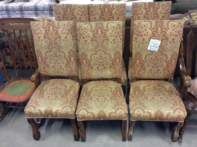 Set of 6 Upholstered Chairs
