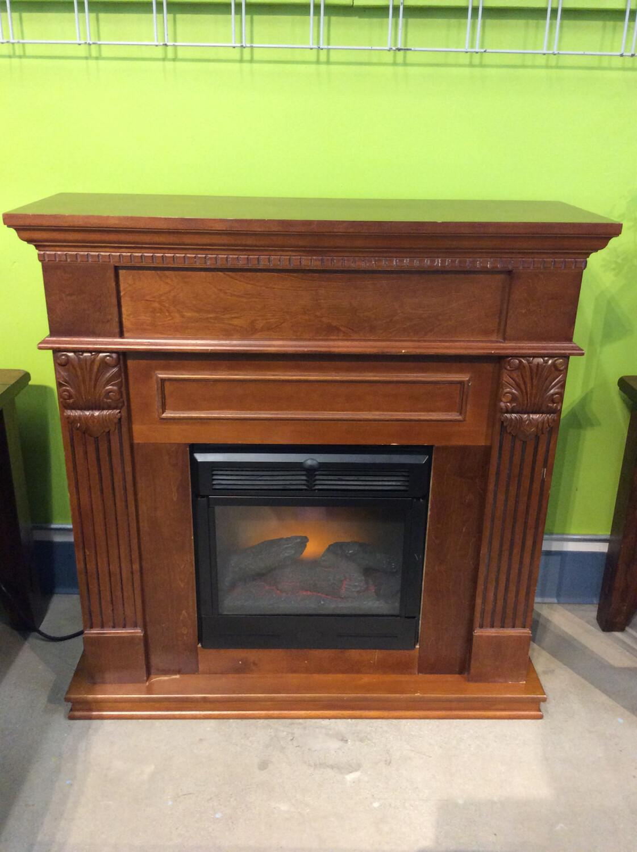 Electric Fireplace w/ Surround