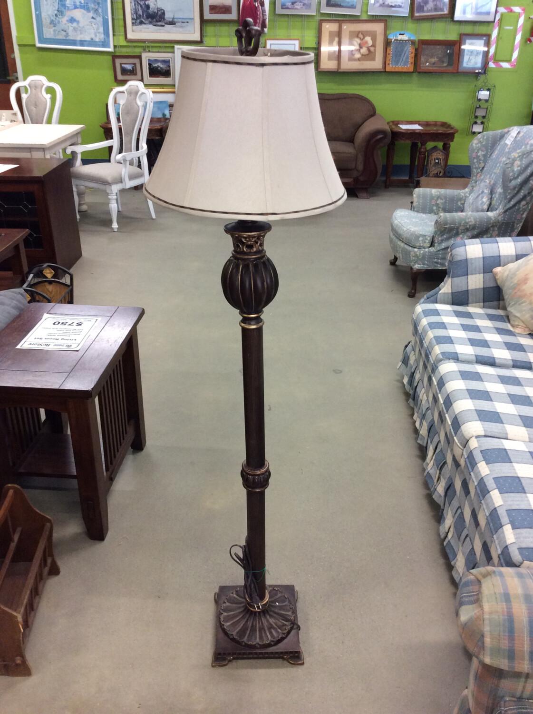 Tan Floor Lamp