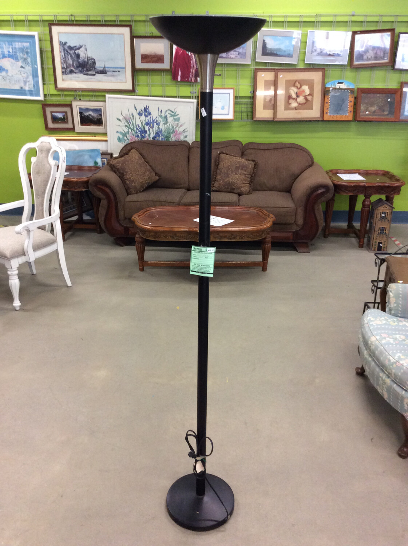 6' Black Floor Lamp