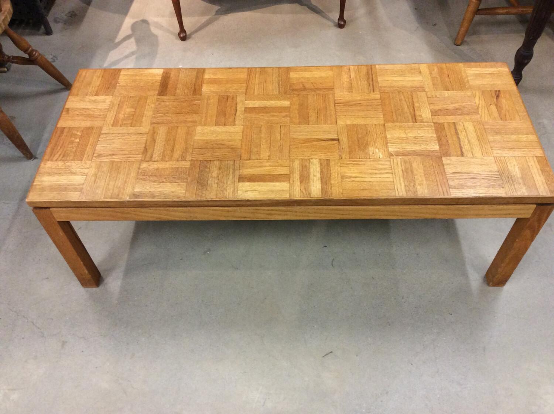 Crosshatch Wood Coffee Table