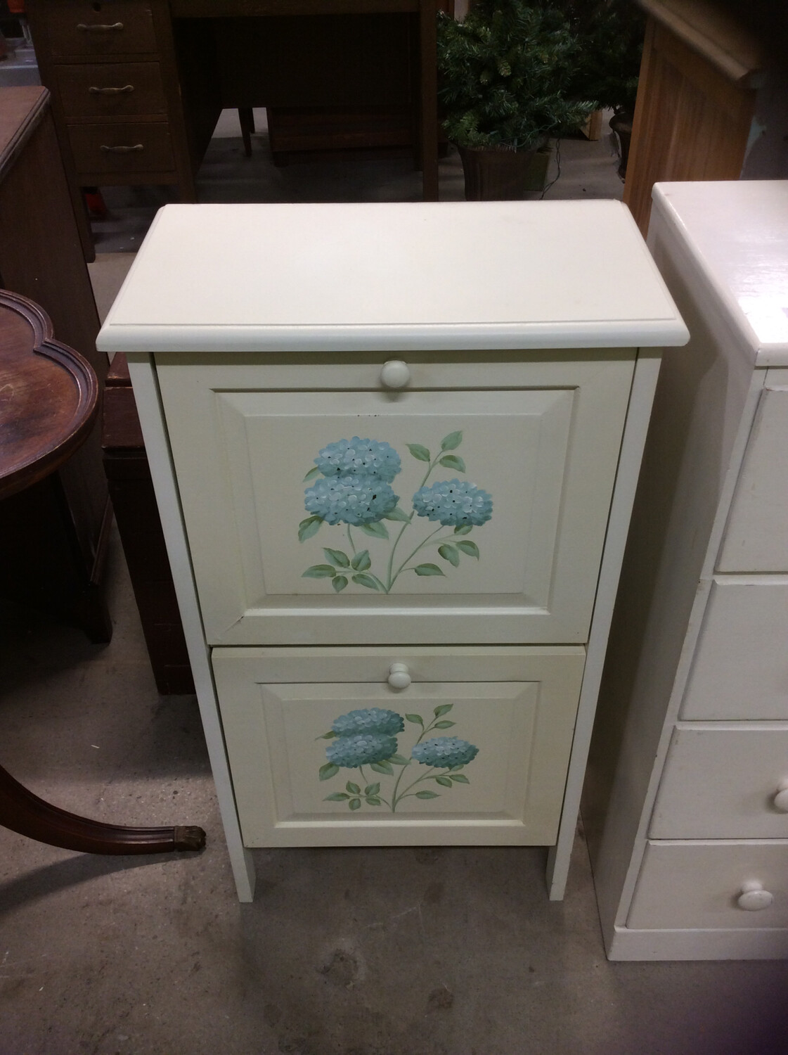 Small Cabinet w/ Flowers