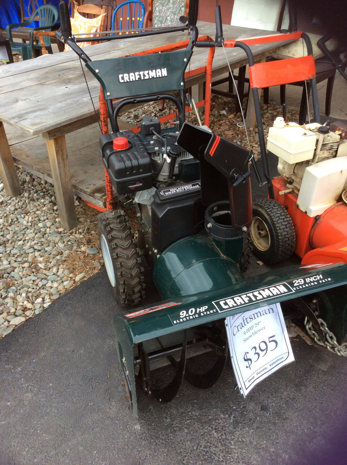 "Craftsman 9hp 29"" Snowblower"