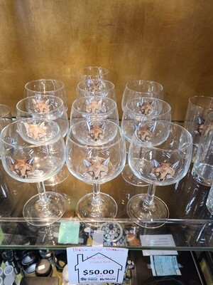 Horse and Hound Fox Wine Glasses