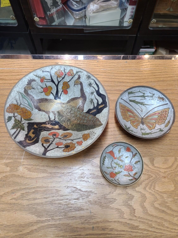 Peacock Metal Bowl Set