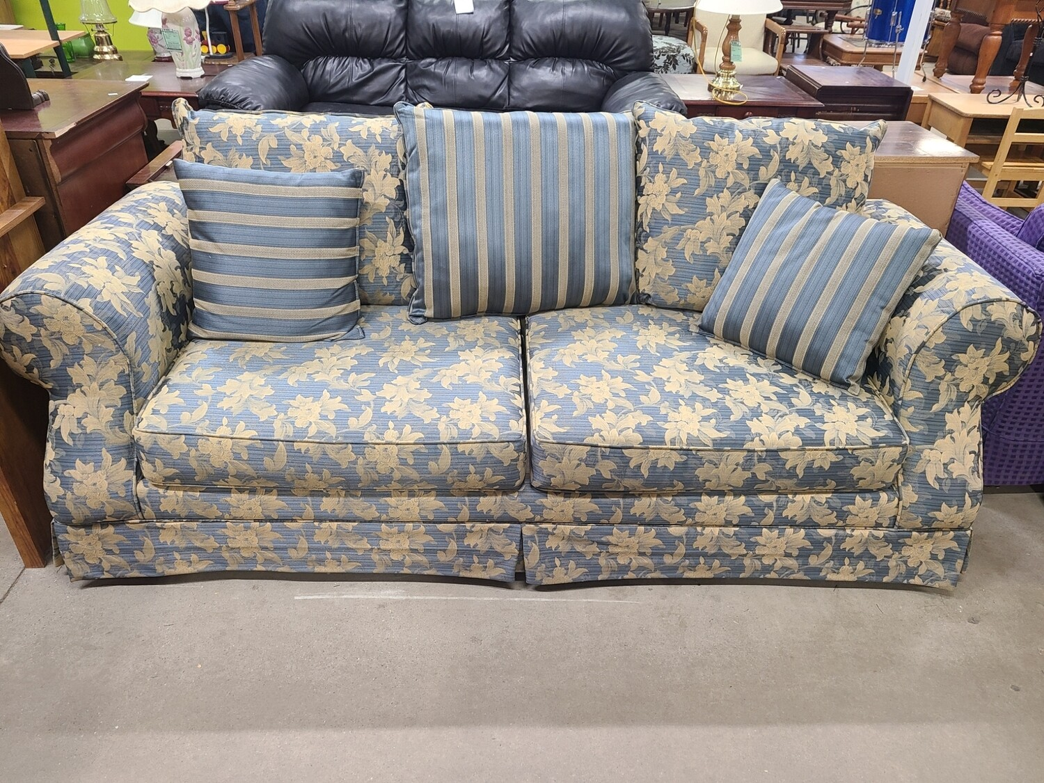 Blue & Gold Sofa