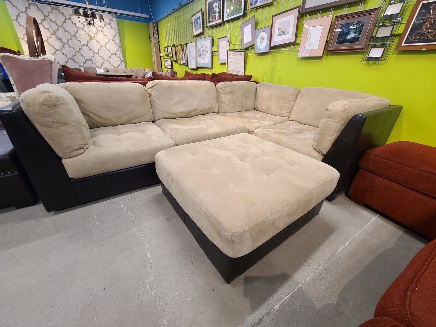 Tan & Brown Sectional