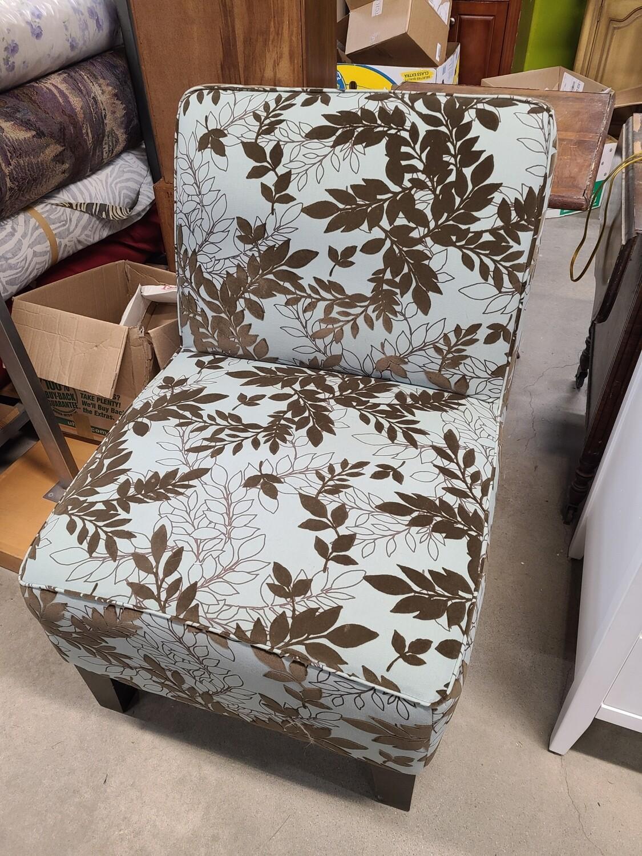 Teal Floral Chair