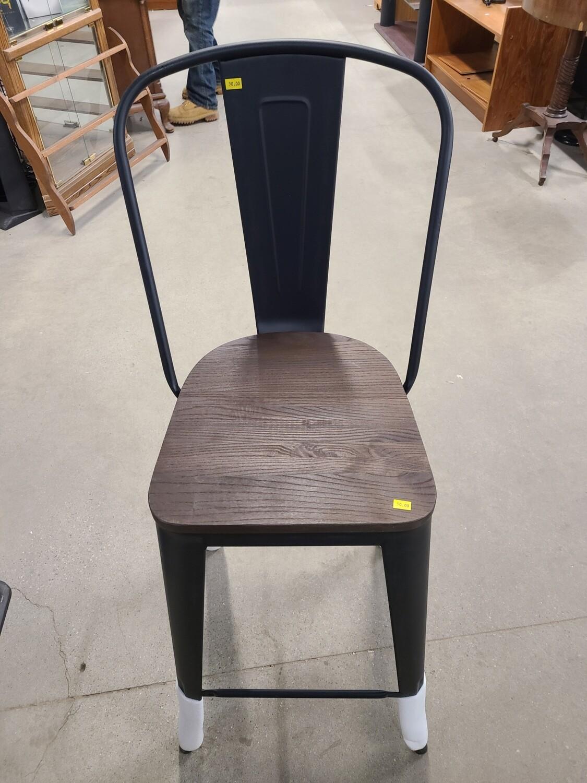 """Carlisle backed Wood Seat 29"""" Barstool"""