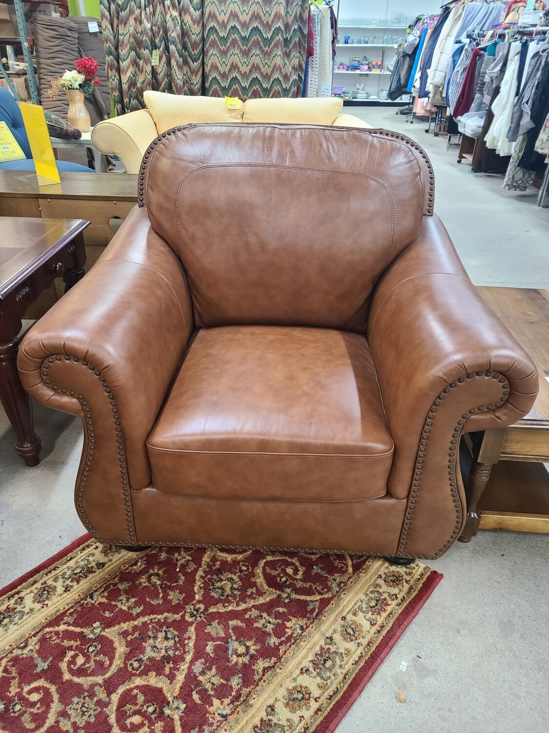 Abbyson Clarke Leather Armchair