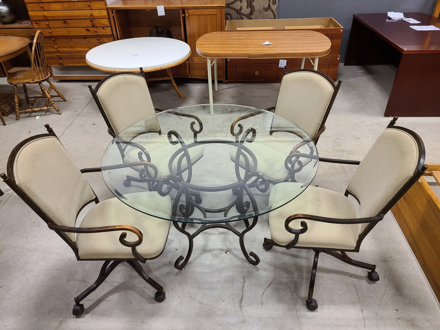 Glass Table w/ 4 Chairs