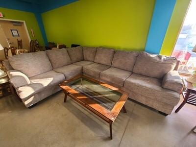 Ashley Furniture Gray Sectional w/ Ottoman