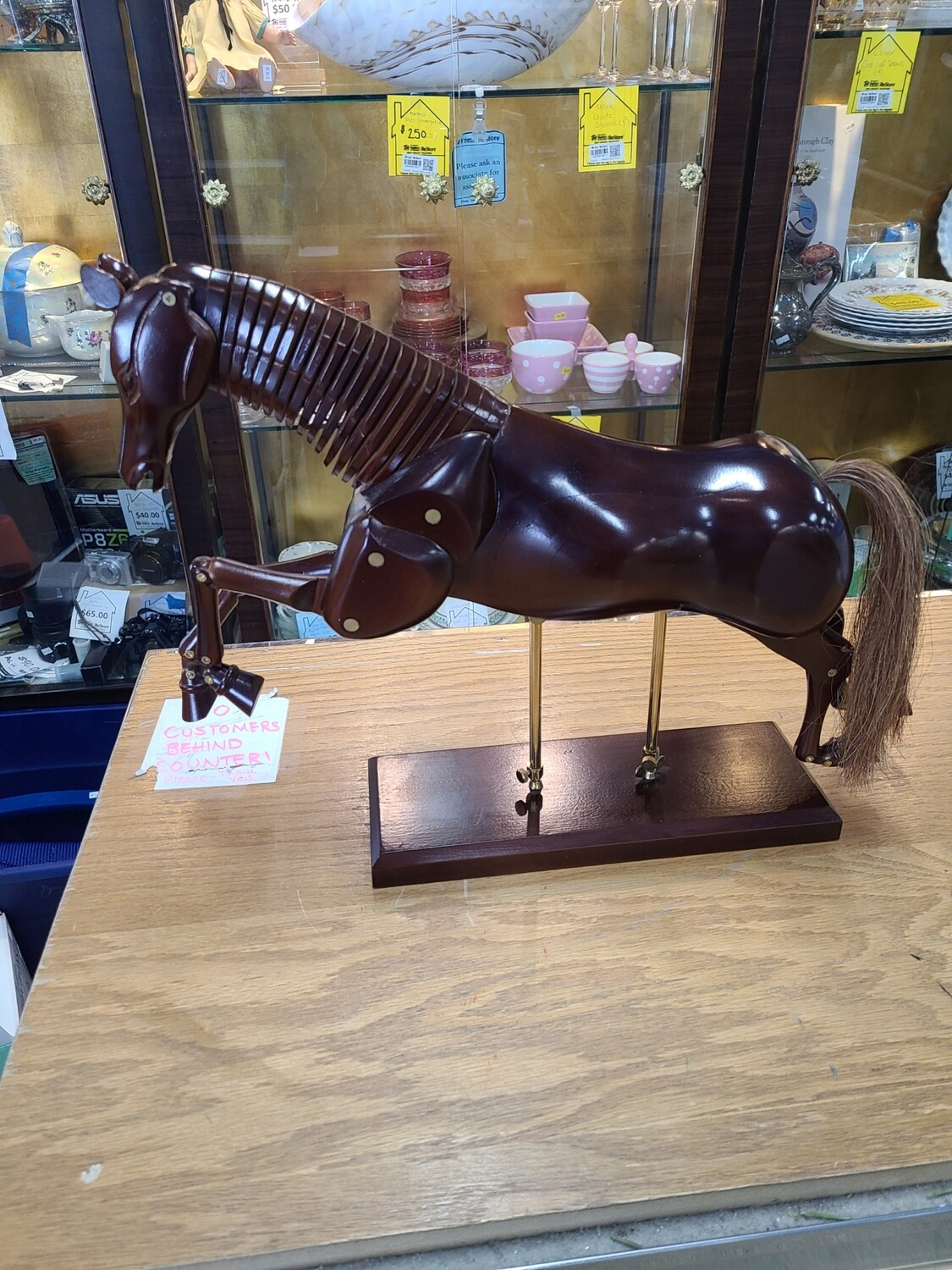 Wooden Articulating Horse