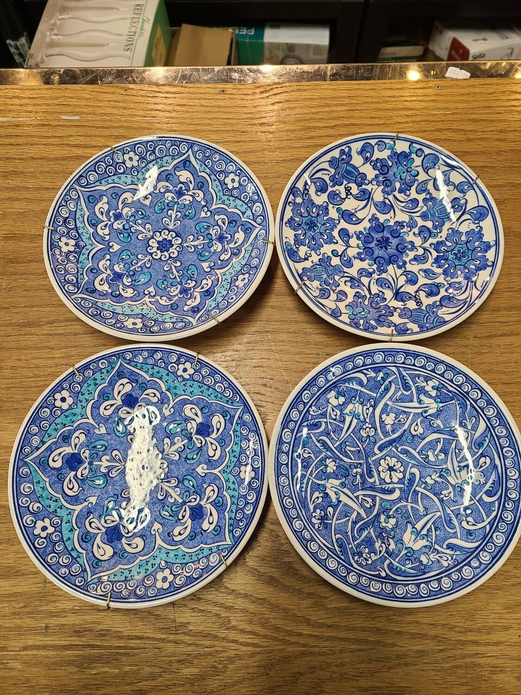 Vintage Marmara Cairo Handmade Kutahya Turkish Art Plates (4)