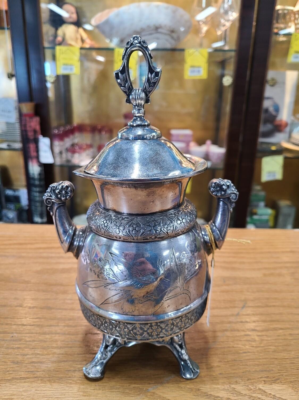 Antique Meriden B. Company Sugar Bowl w/ Lid