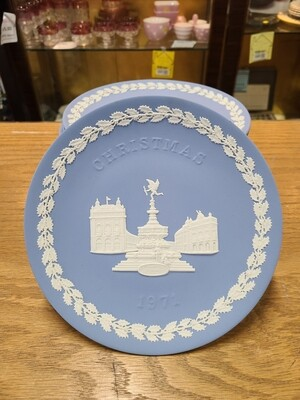 Blue Wedgwood Jasperware Christmas Plates