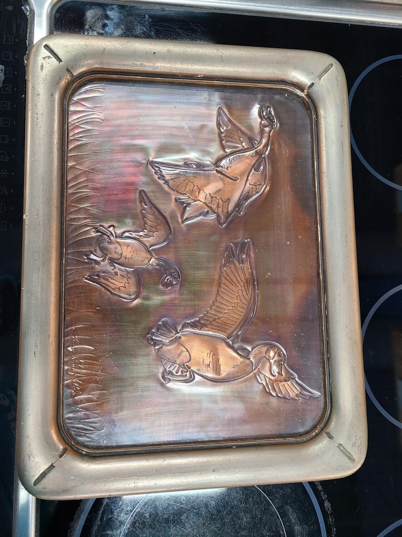 Henry W. Longfellow Signed Copper Art