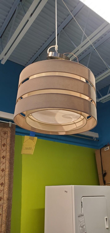 Circular Fabric Light Fixture