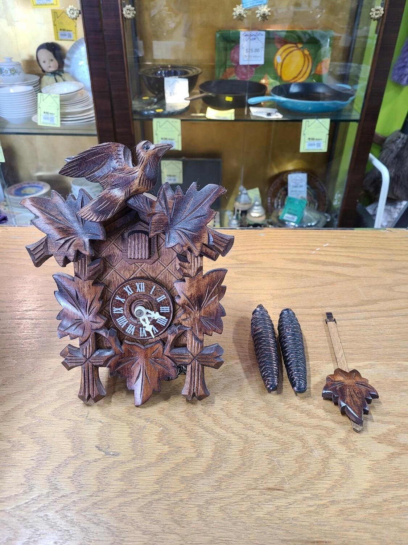 Ornate German Wooden Cuckoo Clock