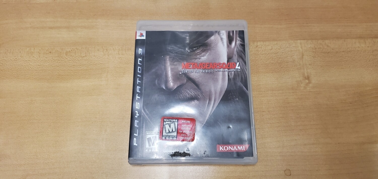 Metal Gear Solid 4 - Playstation 3