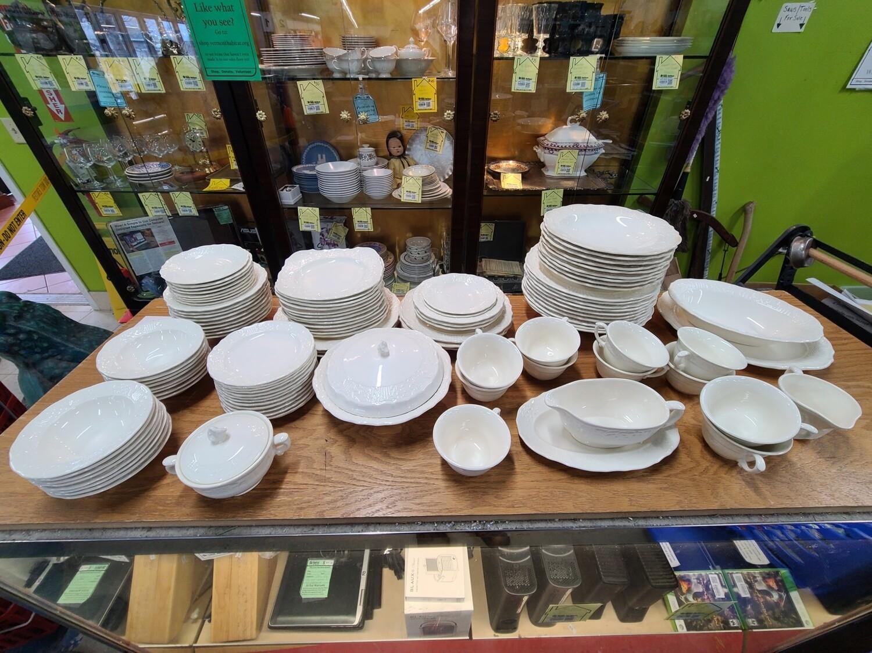 American Traditional Ironstone Pottery Dish Set