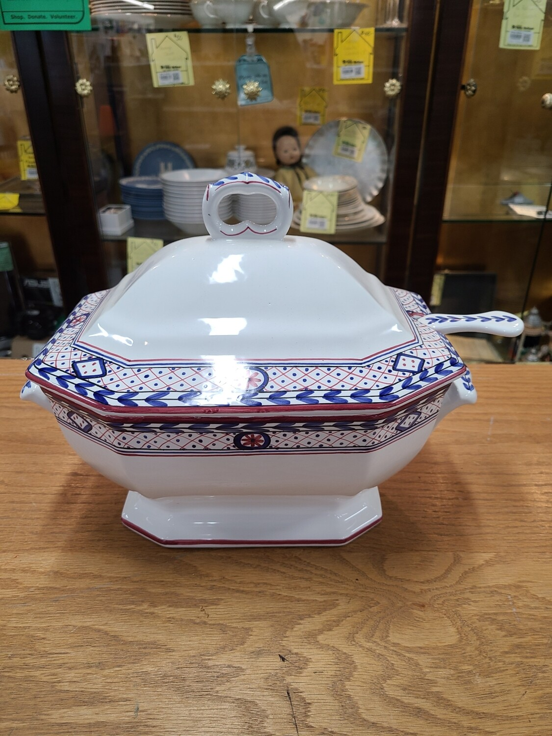 Mesa International Hand-Painted Punch Bowl