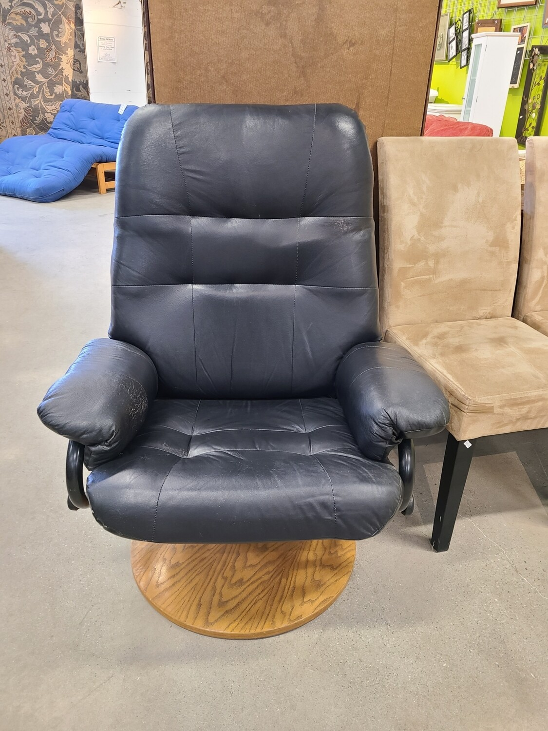 Black Leather Rotating Chair