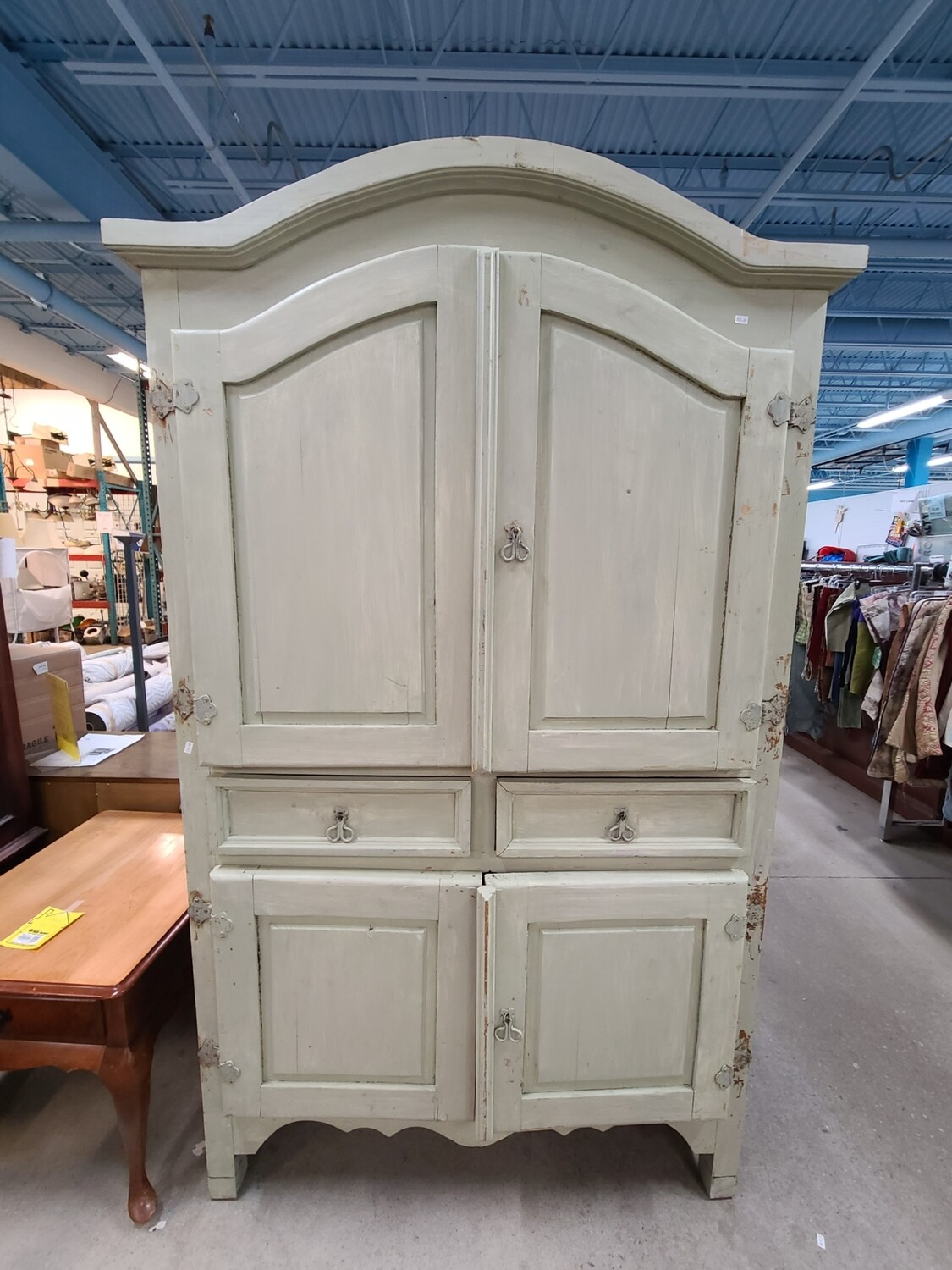 Antique Green Armoire