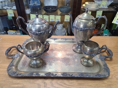 Academy Silver on Copper Tea Set