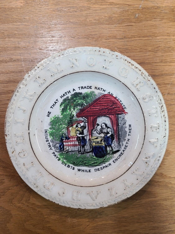 1860s Alphabet Plate