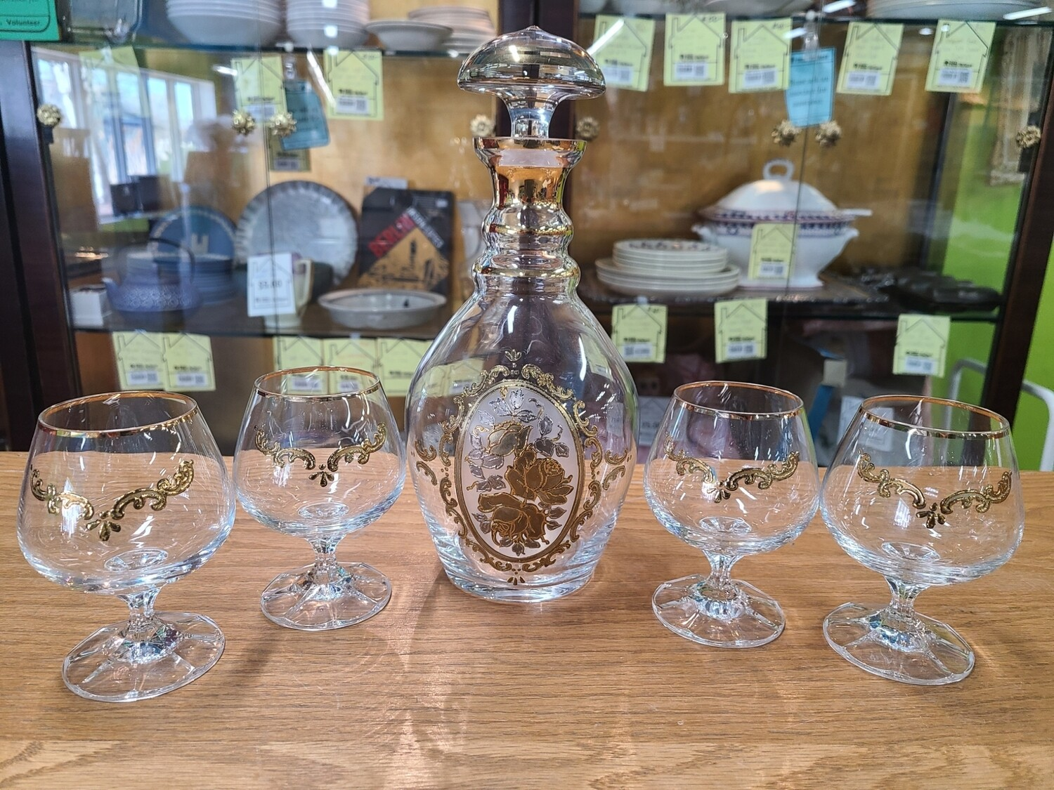 Hand-painted Decanter Set (5)
