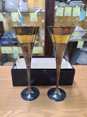 Vintage Silver Plated Wine Glasses (2)
