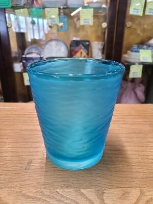 V. Nason Battuto Cut Blue Murano Glass
