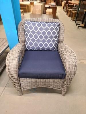 Beacon Park Gray Wicker Patio Chair