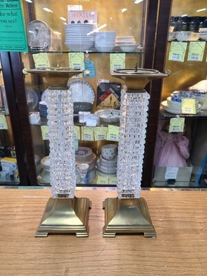 Pair of Ornate Candleholders