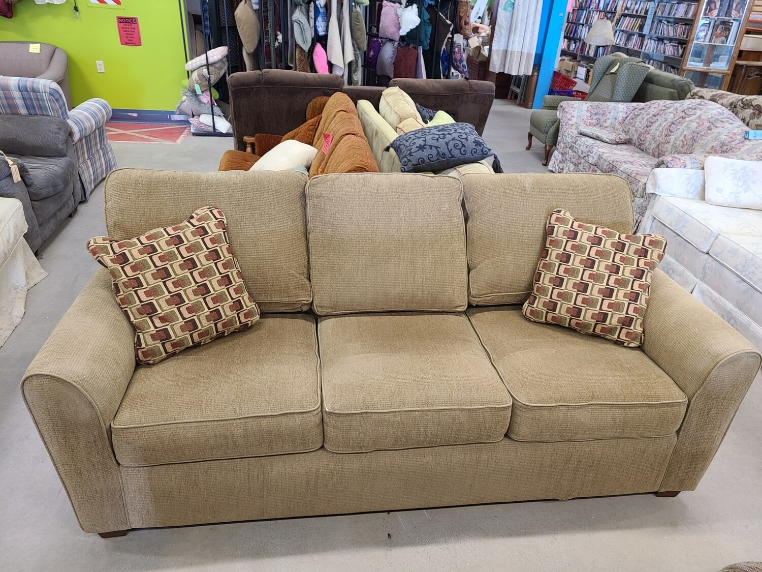 Tan La-Z-Boy Sofa