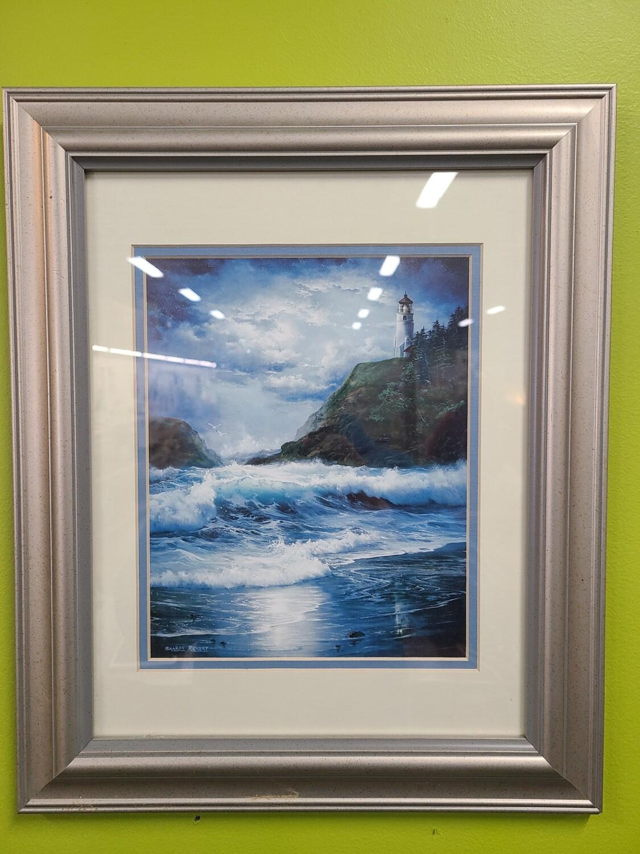 Sharon Rickert Lighthouse Print Framed