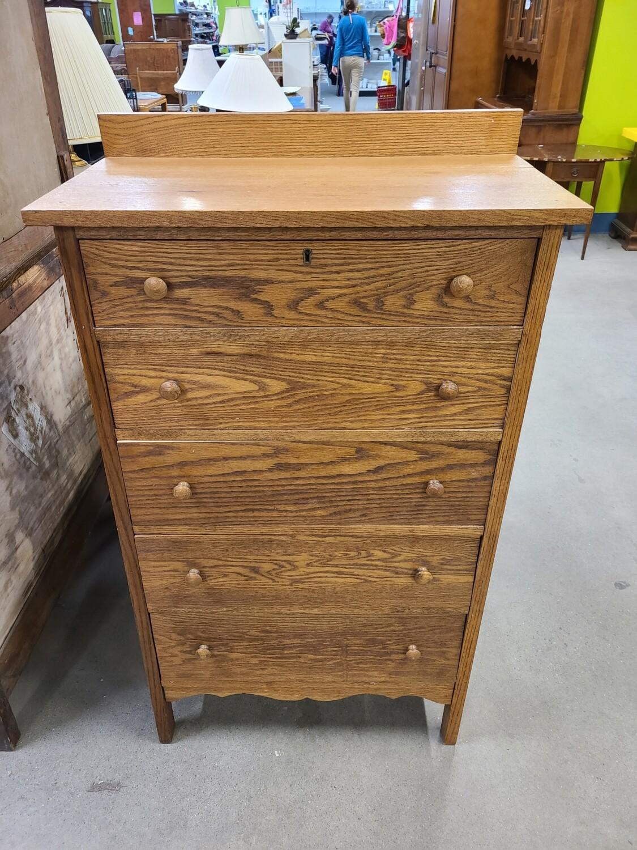 5 Drawer Oak Dresser