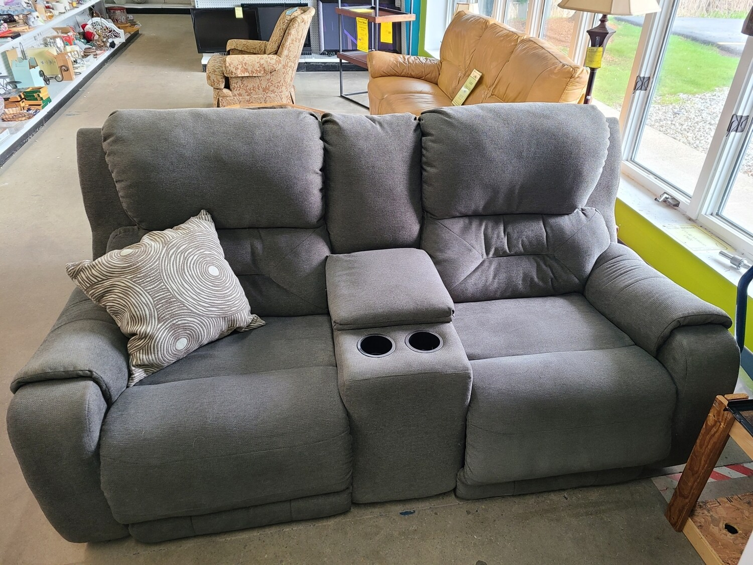 Grey Powered Double Recliner