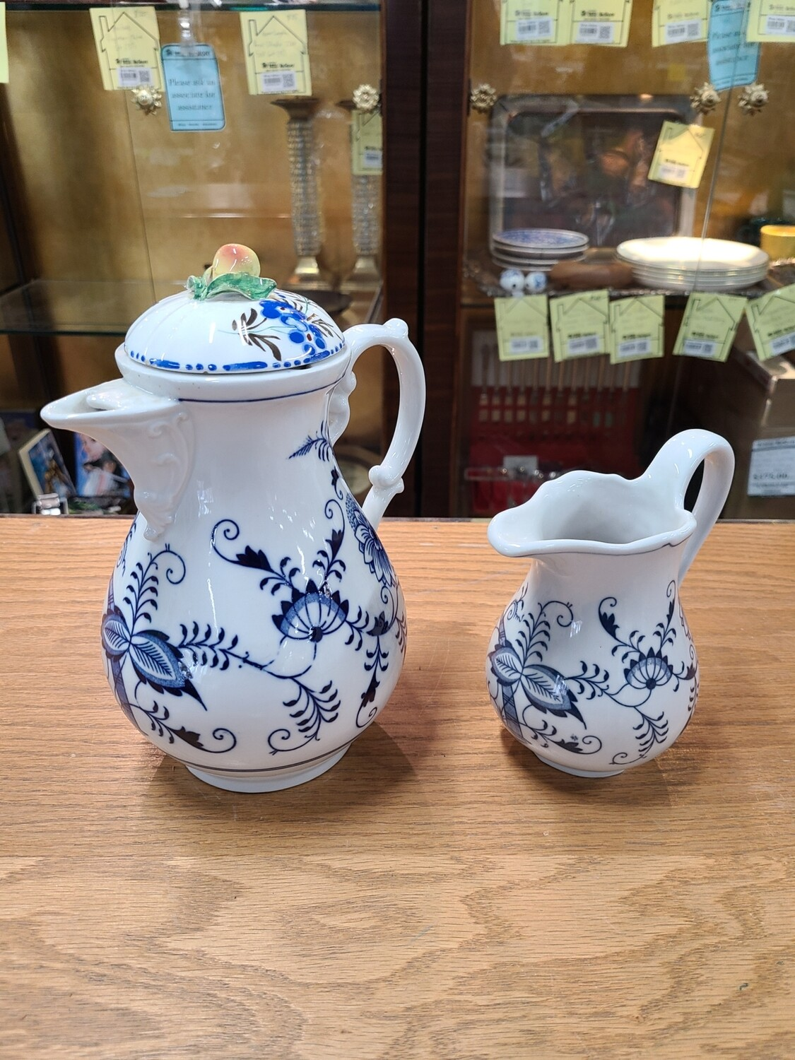 Meissen Teapot and Creamer