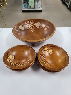 Woodcraftery Hand-Painted Bowls