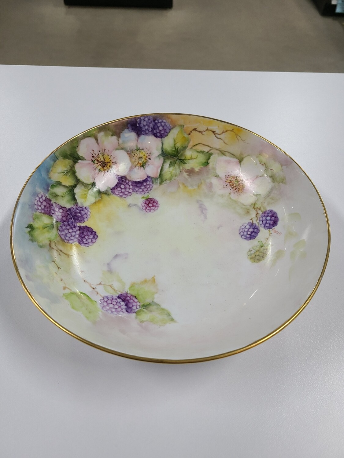Hand-Painted M. Beck Bowl