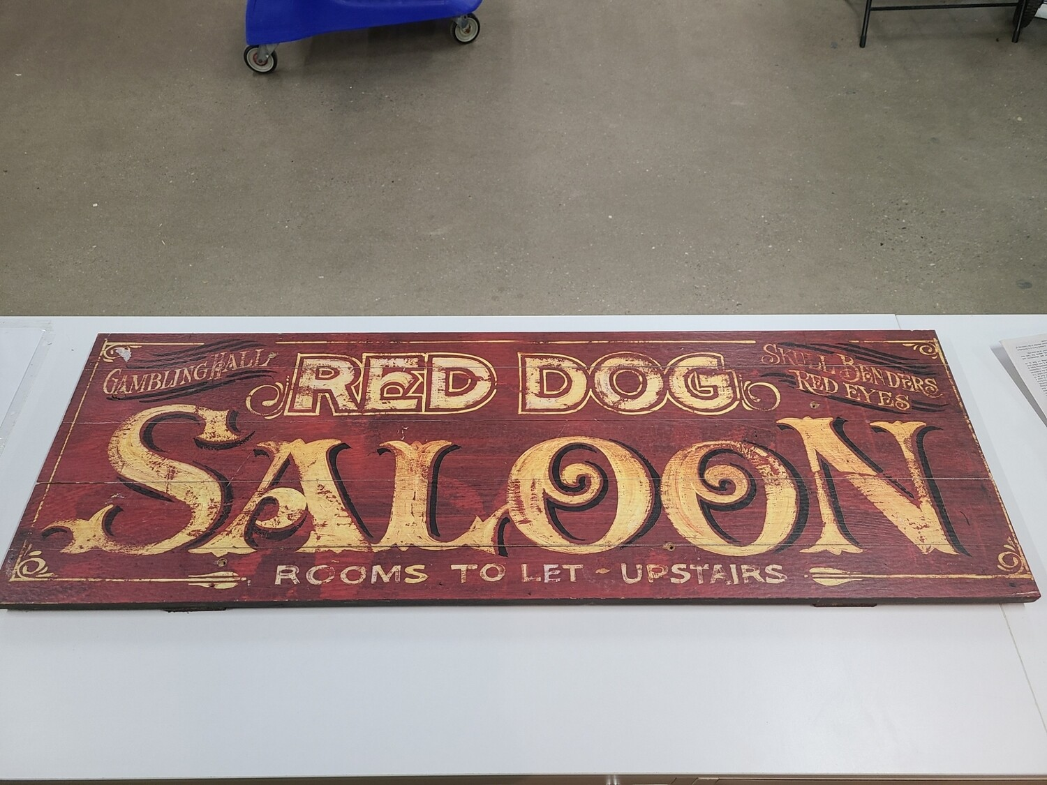 'Red Dog Saloon' Sign